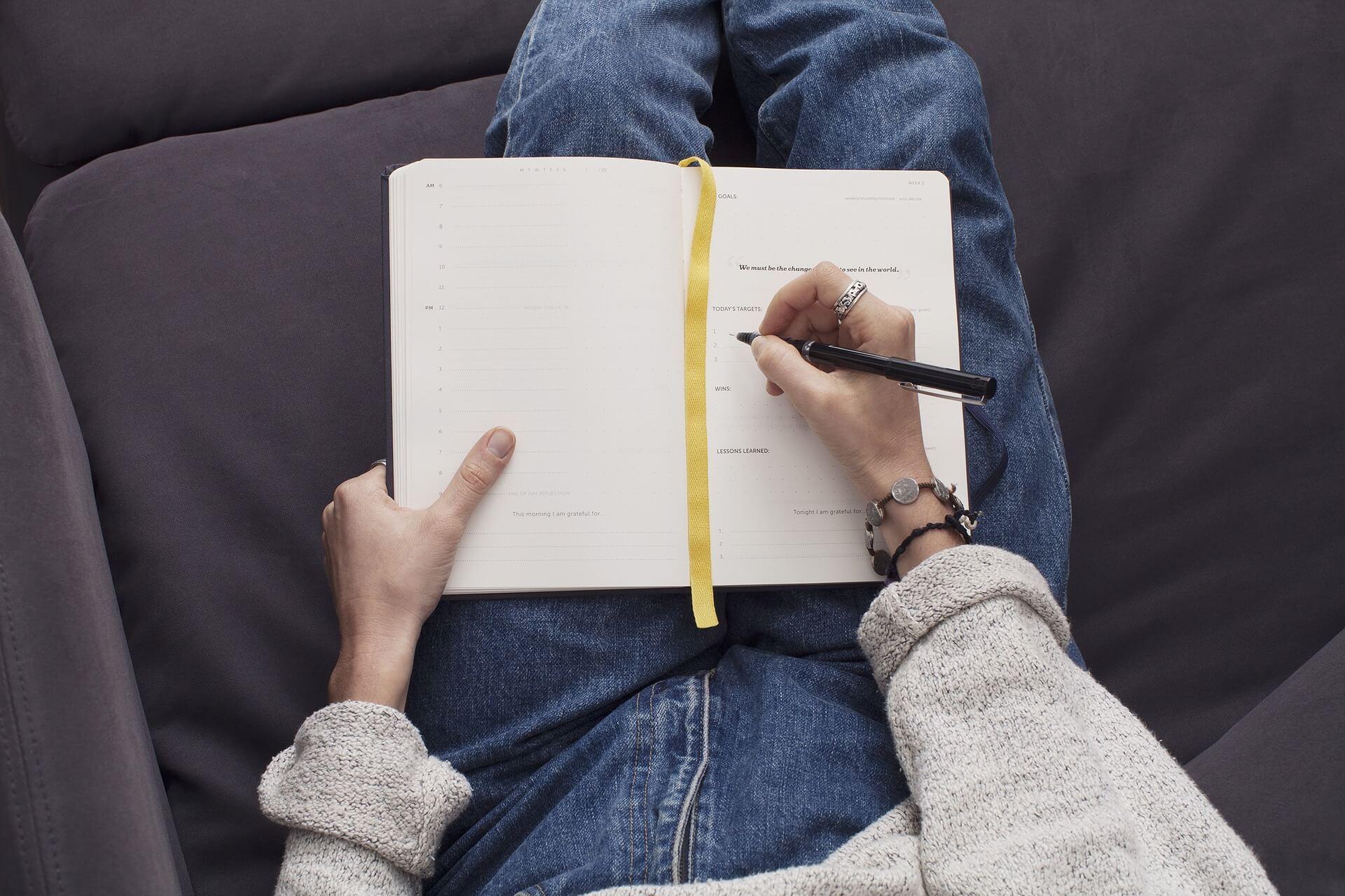Journal daily to de-stress